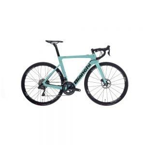 Bici elettrica Bianchi Aria e-Road Ultegra Di2 11v celeste Tg.55